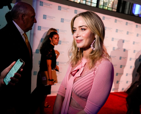 Emily Blunt Hosts Gala for SpeechTherapy